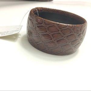 Jewelry - Brown Chunky Croc Style Bangle